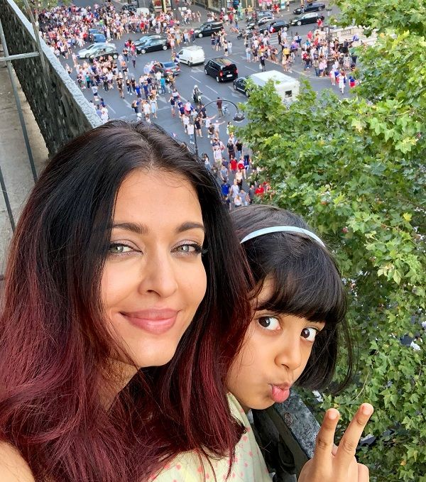 Aishwarya Rai Bachchan And Aaradhya Celebrate France's FIFA World Cup Victory In Paris